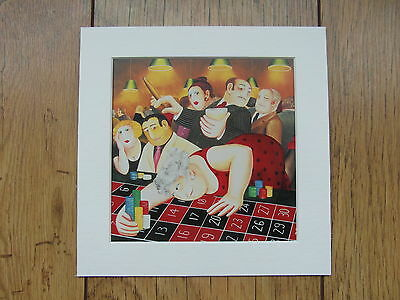 £5.50 • Buy Beryl Cook Roulette  Mounted Card 8 X 8 Funny