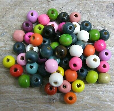 Wooden Round Beads, Colour Choice Craft Bead, Many Colours Size 10 Mm, 100 Pack • 1.95£