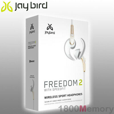 AU149 • Buy GENUINE Jaybird Freedom 2 Bluetooth Wireless Buds Headset Earphone White Gold