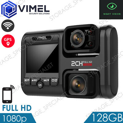 AU199 • Buy Professional Vimel Dual Dash Camera 128GB 4K GPS WIFI Wireless Car Uber Taxi