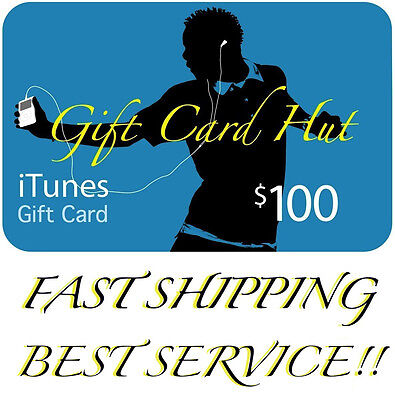 AU169.99 • Buy $100 US ITUNES CARD Gift Voucher Certificate Apple USA USD ITune 100% Genuine