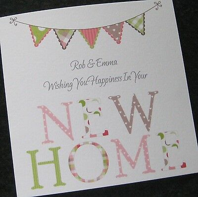 Personalised Handmade New Home Card / Moving House / Change Of Address (CA6) • 3.75£