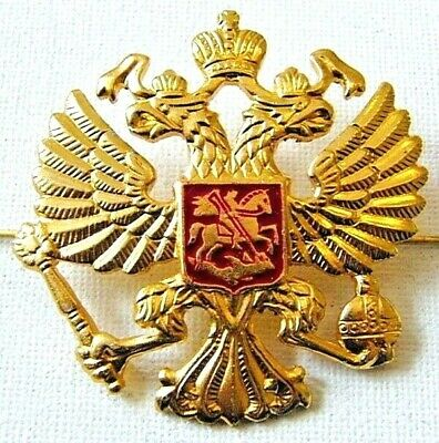 Russian Army Military Imperial Eagle Hat Cap Beret Metal Pin Badge Good Quality • 4.50£