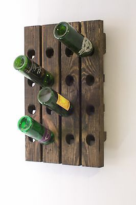 Wine Riddling Rack Distressed Wood Winerack Handcrafted In USA • 79.52£