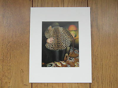 Beryl Cook Leopardskin Coat  Mounted Card 10 X 8 Funny • 5.50£