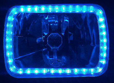 AU169.95 • Buy Ford F100 F150 F250 F350 Bronco Hilux MK Patrol Triton Blue Angel Halo Headlamps
