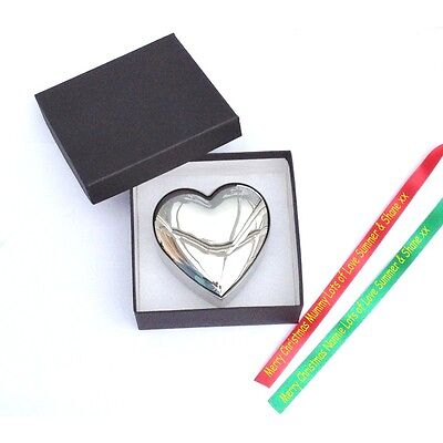 £12.99 • Buy Personalised Engraved Heart Trinket Box With Gift Box & Personalised Gift Ribbon