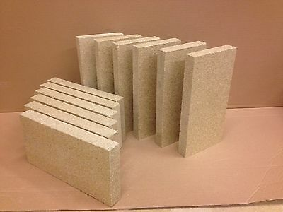 £16 • Buy Pack Of 10 Vermiculite Fire Bricks 230mm X 114mm X 25mm Thick High Density