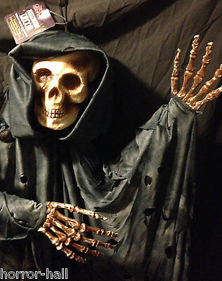 $34.97 • Buy LifeSize BLACK HOODED GRIM REAPER SKELETON Zombie Pirate Haunted Prop Decoration
