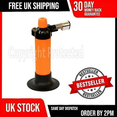 Butane Torch Gas Mini Micro Wireless Blow Lamp Cook Jeweller Soldering Welding • 8.29£
