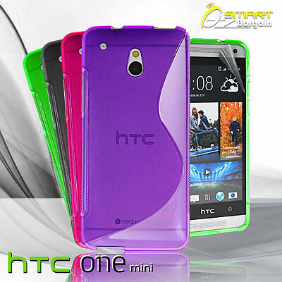 AU4.99 • Buy S Curve Gel Case For HTC ONE Mini M4 + Screen Guard TPU Jelly Skin Soft Cover