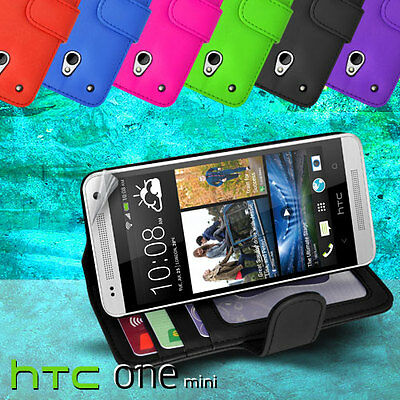 AU7.99 • Buy Photo ID Wallet Flip Leather Case Cover For HTC ONE Mini M4 + SP Card Slot 1mini