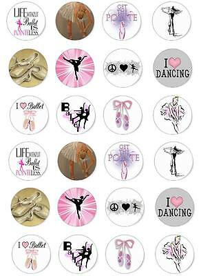 Ballet Dance Cupcake Fairy Cake Wafer Paper Toppers X 24 (N1) • 1£