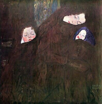 $ CDN57.16 • Buy Mother With Children By Gustav Klimt Giclee Fine Art Print Repro On Canvas