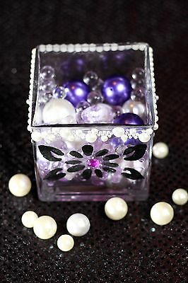 $25 • Buy Elegant Vases With Vase Decoration, Pearls, Waterveads Floating Candle And LED L