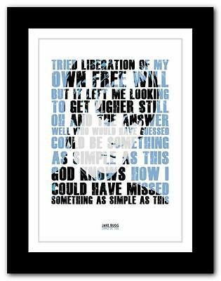 £9.95 • Buy ❤ JAKE BUGG - Simple As This ❤ Song Words Art Poster Print - A1 A2 A3 Or A4 #2