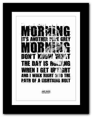 £9.95 • Buy ❤JAKE BUGG Lightning Bolt ❤ Song Words Art Poster Print - A1 A2 A3 Or A4 #2