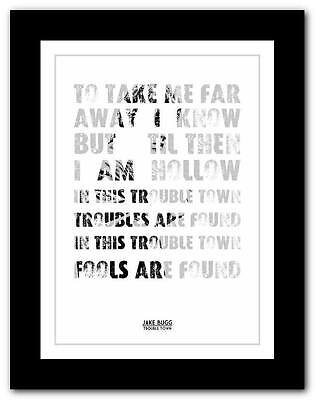 £9.95 • Buy ❤ JAKE BUGG - Trouble Town ❤ Song Lyric Art Poster Print - A1 A2 A3 Or A4  #2