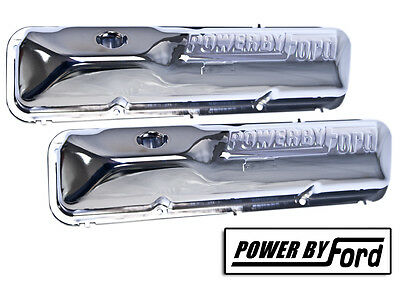 $309.54 • Buy Ford FE Big Block Powered By Ford Rocker Covers Chrome 352 390 427 428 Mustang