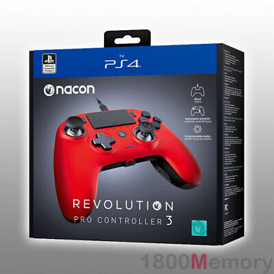AU249 • Buy Nacon Revolution Pro Controller 3 V3 Game Pad Red For Sony PlayStation 4 PS4