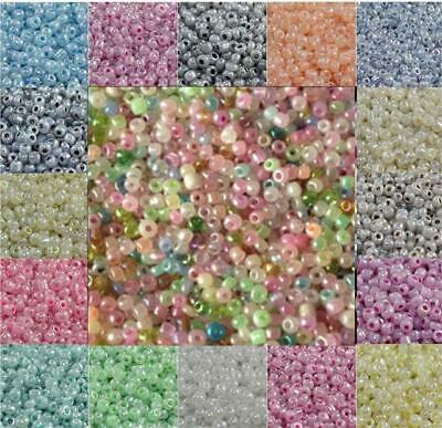 £2.29 • Buy 50g PEARL CEYLON SEED BEADS 11/0~2mm 8/0~3mm 6/0~4mm 16 COLOUR CHOICE