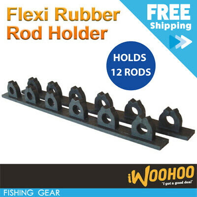 AU14 • Buy Rubber Fishing Rod Rack Pool Cue Holder 12 Items Fish Gear Storage Organiser