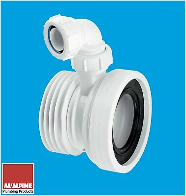 Pan Outlet Connector With Basin Waste Pipe Inlet 110mm Plastic Soil • 11.30£