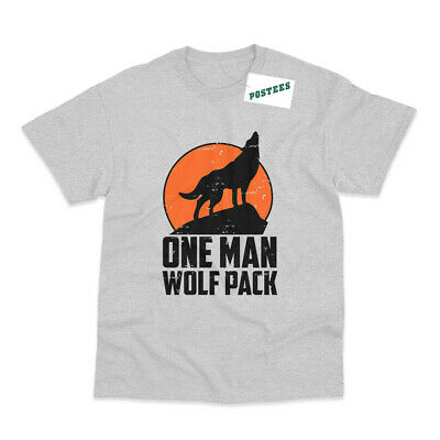 One Man Wolf Pack Inspired By Alan Hangover Printed T-Shirt • 9.95£