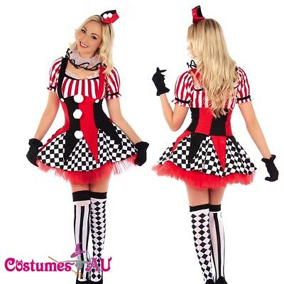 AU37.05 • Buy Sexy Circus Outift Cirque Clown Jester Fancy Dress Halloween Party Costume