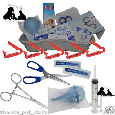 £14.99 • Buy COMPLETE Puppy Whelping Kit XS Cord Clamp Sterile Aspirator Forceps Milk Syringe