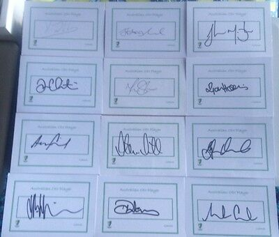AU10 • Buy Australian One Day Cricketers Signed 5  X 3  Index Card 12 Available