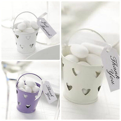 £9.35 • Buy Heart Pails Wedding Favours Buckets Tealight Party Various Colours