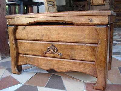 Wooden Blanket Box Coffee Table Trunk Vintage Chest Wooden Ottoman Toy Box (AS2) • 149.99£