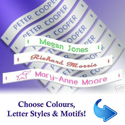 £4.99 • Buy Name Labels - Woven Sew-in School Name Tags - 36, 72 Or 144 Name Labels