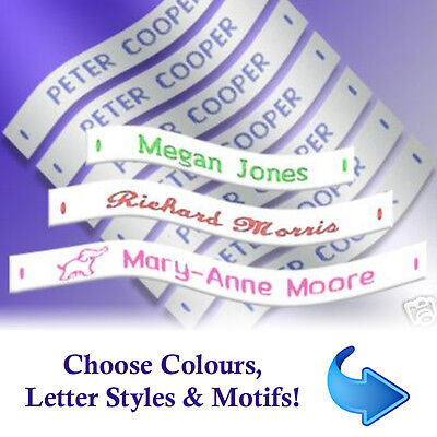 Name Labels - Woven Sew-in School Name Tags - 36, 72 Or 144 Name Labels • 4.99£