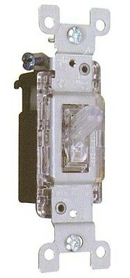 Illuminated Lighted Quiet Clear Wall Toggle Switch 15a 120v Single Pole / 3 Way • 5.95$