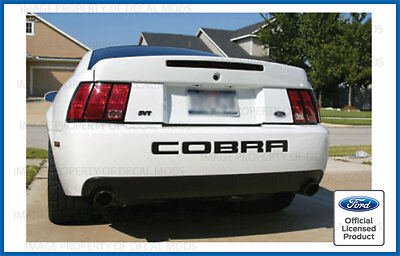 $12.88 • Buy Ford Mustang COBRA Rear Bumper Valence Letter Decal Sticker 2003 2004 Inserts