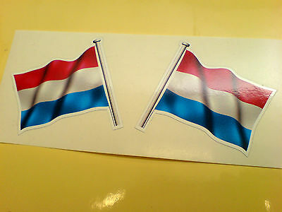 NETHERLANDS Flag & Pole Motorcycle Car Bumper Stickers Decals 2 Off 60mm • 1.99£
