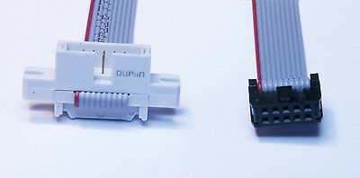10 Pin IDC Ribbon Cable Plug To Socket 2 X 5 Way Connectors 1M To 2M Length • 4.50£