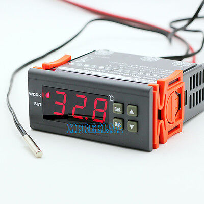 AU19.99 • Buy 220-240V Temperature Controller Control Temp Thermostat Switch 1 Relay W/ Sensor