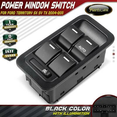 AU25 • Buy Master Window Switch For Ford Territory SX SY TX 04-11 Illuminated Black 13 Pins