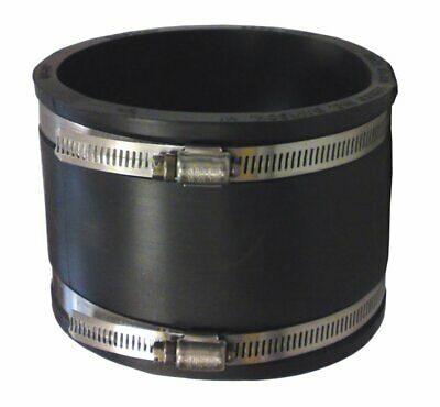 4  Rubber Coupling 110mm PVC Soil Drain Pipe Coupler -Repair Fitting With Clips • 8.20£