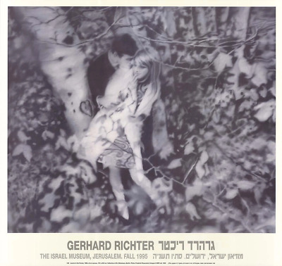 $125 • Buy GERHARD RICHTER Lovers In The Forest 26.75  X 28.25  Poster 1995 Contemporary