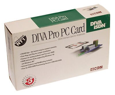 £15.28 • Buy Eicon 305-196 DIVA Pro ISDN PC Card Modem Terminal Adapter Interface NEW IN BOX