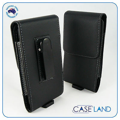 AU12.99 • Buy Black Leather Belt Clip Phone Case Cover Samsung Galaxy S7 IPhone X, 7, 8,  Oppo