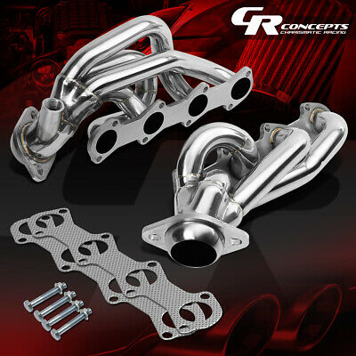 $118.95 • Buy For 97-03 F150/f250/expedition 5.4 V8 Stainless Exhaust Manifold Header+gasket