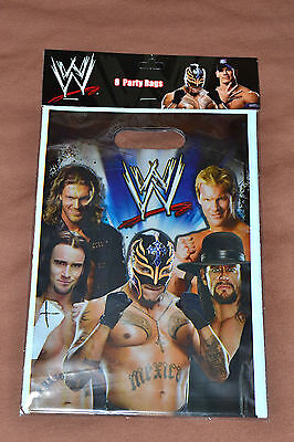 New ~wwe Wrestling~  8-plastic Loot Bags   Party Supplies • 1.53£