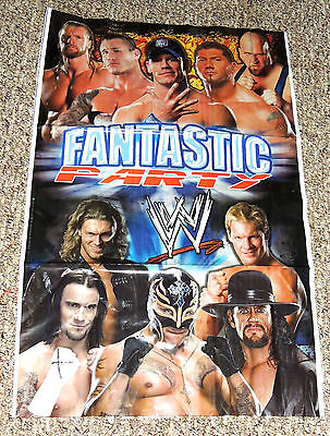 New ~wwe Wrestling~  1- Wall Banner Decoration   19 X 31   Party Supplies • 1.51£