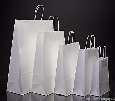 £0.99 • Buy White Paper Bags Twist Handle Party And Gift Carrier / Paper Bags With Handles