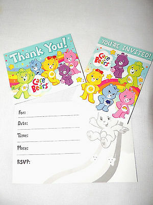 Baby Care Bears 8 -paper Invitations & Thank You Notes  Bithday-child    Party  • 5.24£